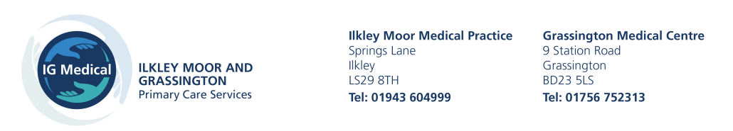 IG Medical – Ilkley Moor and Grassington doctors